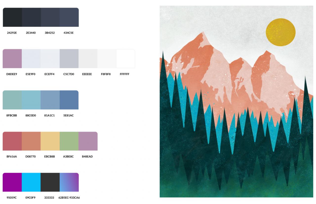 Design system final colors