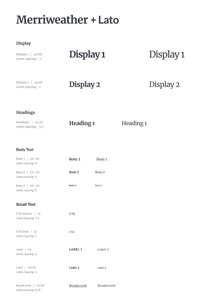 Design system - typography